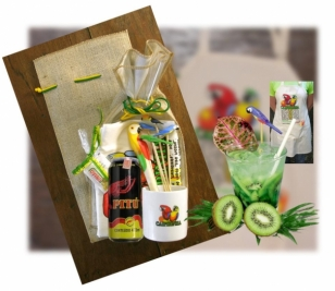 Kit n� 04 - Caipirinha com Avental em embalagem da Juta